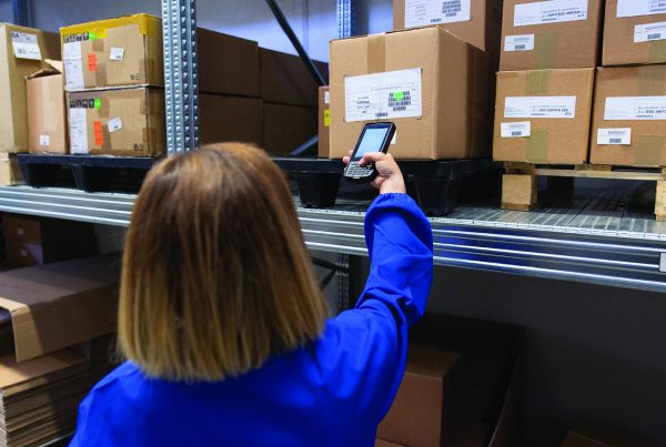 Visitor management system scanning barcode
